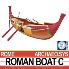Ancient Roman Boat C 3D Model