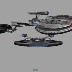 Starship Gibbor obj 3D Model