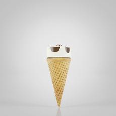 Cornet Ice Cream 3D Model