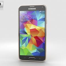 Samsung Galaxy S5 Gold 3D Model