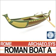 Ancient Roman Boat A 3D Model