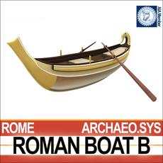 Ancient Roman Boat B 3D Model