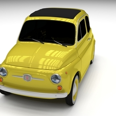 Fiat Nuova 500D 1960 3D Model