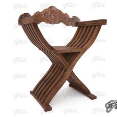 Savonarola chair 3D Model