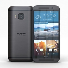 HTC One M9 Gunmetal Gray 3D Model