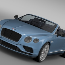 Bentley Continental GT V8 S Convertible 2015 3D Model