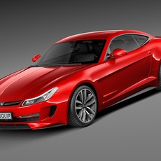 Generic Average Sport Coupe 2015 3D Model
