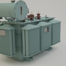 Oil-Immersed power transformer 3D Model