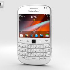 BlackBerry Bold 9900 White 3D Model
