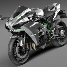 Kawasaki Ninja H2R 2015 3D Model