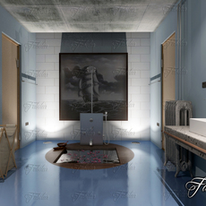 Bathroom 62 night 3D Model