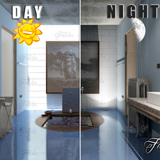 Bathroom 62 Day&Night 3D Model