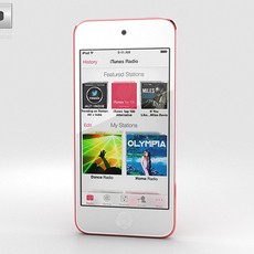 Apple iPod Touch Pink 3D Model
