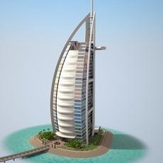 Burj Al Arab Hotel 3D Model