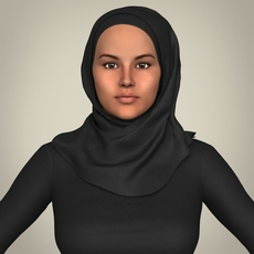 Realistic Islamic Woman 3D Model