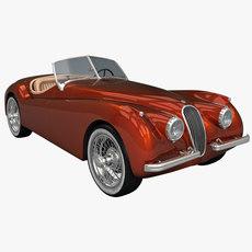 Jaguar XK120 Sports Car 3D Model