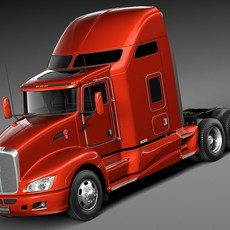 Kenworth T660 2015 semi truck 3D Model