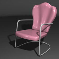 Vintage Metal Lawn Chair 3D Model