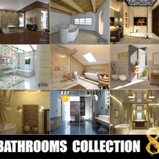 Bathrooms collection 8 3D Model
