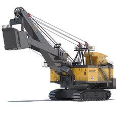Rope Shovel P&H 4100XPC 3D Model