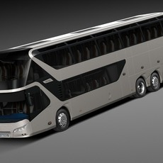 Neoplan Skyliner 2015 Coach Bus 3D Model