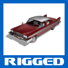 Plymouth Fury 1958 Sport Coupe & Convertible Rigged for Maya 1.0.0