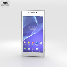 Sony Xperia M2 White 3D Model