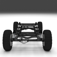 Simple Offroad Chassis 3D Model
