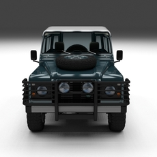 Land Rover Defender 90 Station Wagon w interior 3D Model