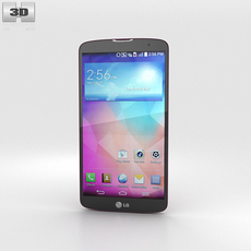 LG G Pro 2 Red 3D Model