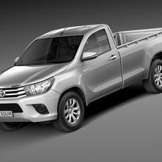 Toyota Hilux Single Cab 2016 3D Model