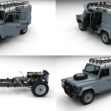 Full Land Rover Defender 110 Utility Station Wagon 3D Model