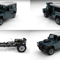 Full Land Rover Defender 90 Station Wagon 3D Model
