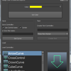 Control curve creator UI for Maya 0.2.6 (maya script)