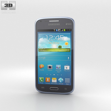 Samsung Galaxy Core Metallic Blue 3D Model