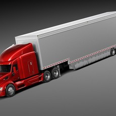 Peterbilt 579 Semi Truck Trailer 2012 3D Model