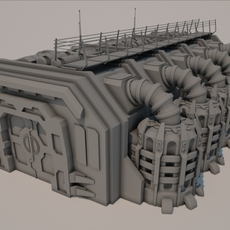 Sci-fi Building 1501 3D Model