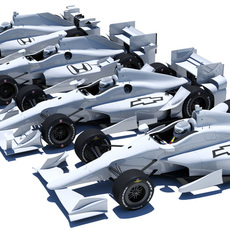 Indycar road and oval aero kit. Honda + Chevy 3D Model