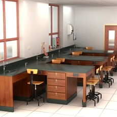 Science Laboratory 01 3D Model