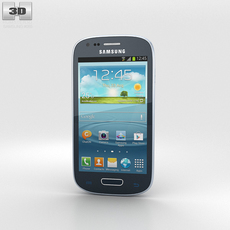 Samsung Galaxy S III Mini Blue 3D Model