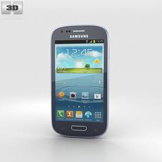 Samsung I8200 Galaxy S III Mini VE Blue 3D Model