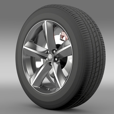 Dodge Challenger SRT8 wheel 3D Model
