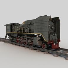 Old Steam Train 3D Model