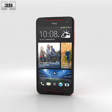 HTC Butterfly S Red 3D Model