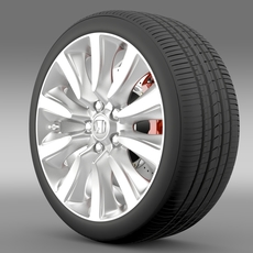 Honda Legend Hybrid wheel 2015 3D Model