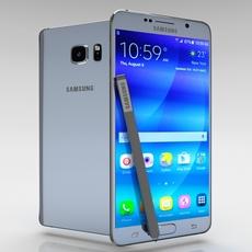 Samsung Galaxy Note 5 Silver Titanium 3D Model
