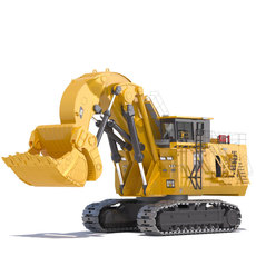 Mining Excavator 6090 FS 3D Model