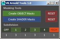 Arnold Tools for Maya 1.0.0 (maya script)
