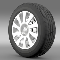 Opel Vivaro Van wheel 2015 3D Model