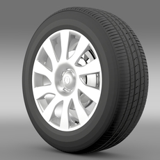 Vauxhall Vivaro Van wheel 2015 3D Model